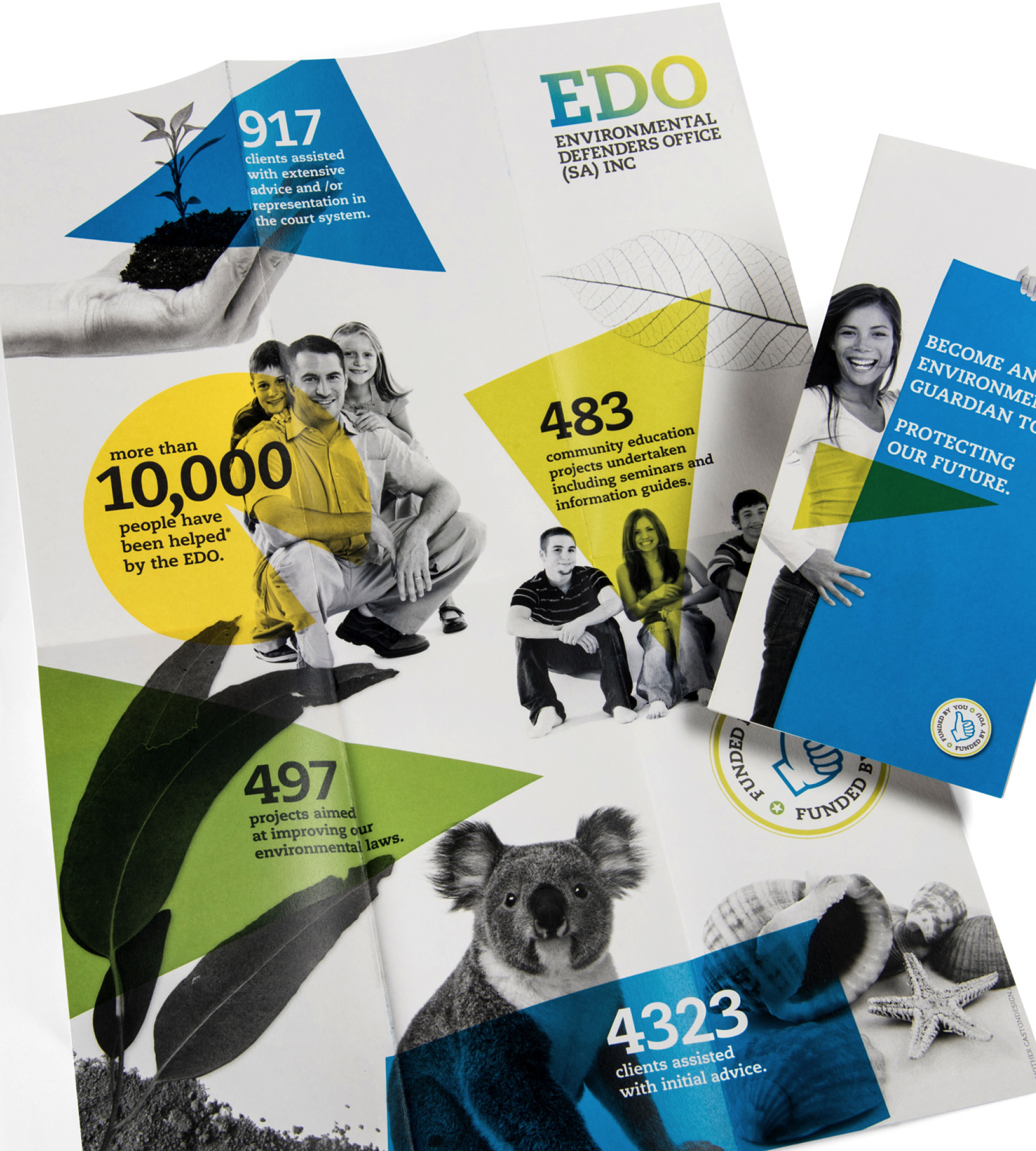 EDO (Environmental Defenders Office SA) - Connecting clients with a cause. Together we developed a series of print and online campaigns that included postcards, posters and electronic direct mail. Overall results saw a 60 percent increase in community awareness, positive perceptions and an increased uptake of services.