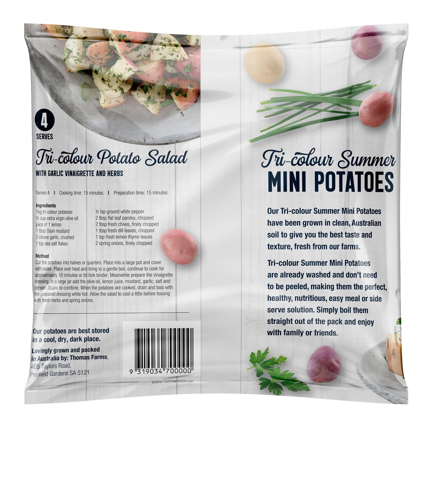 Tri-colour Summer Mini Potatoes