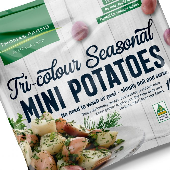 Tri-colour Summer Mini Potatoes